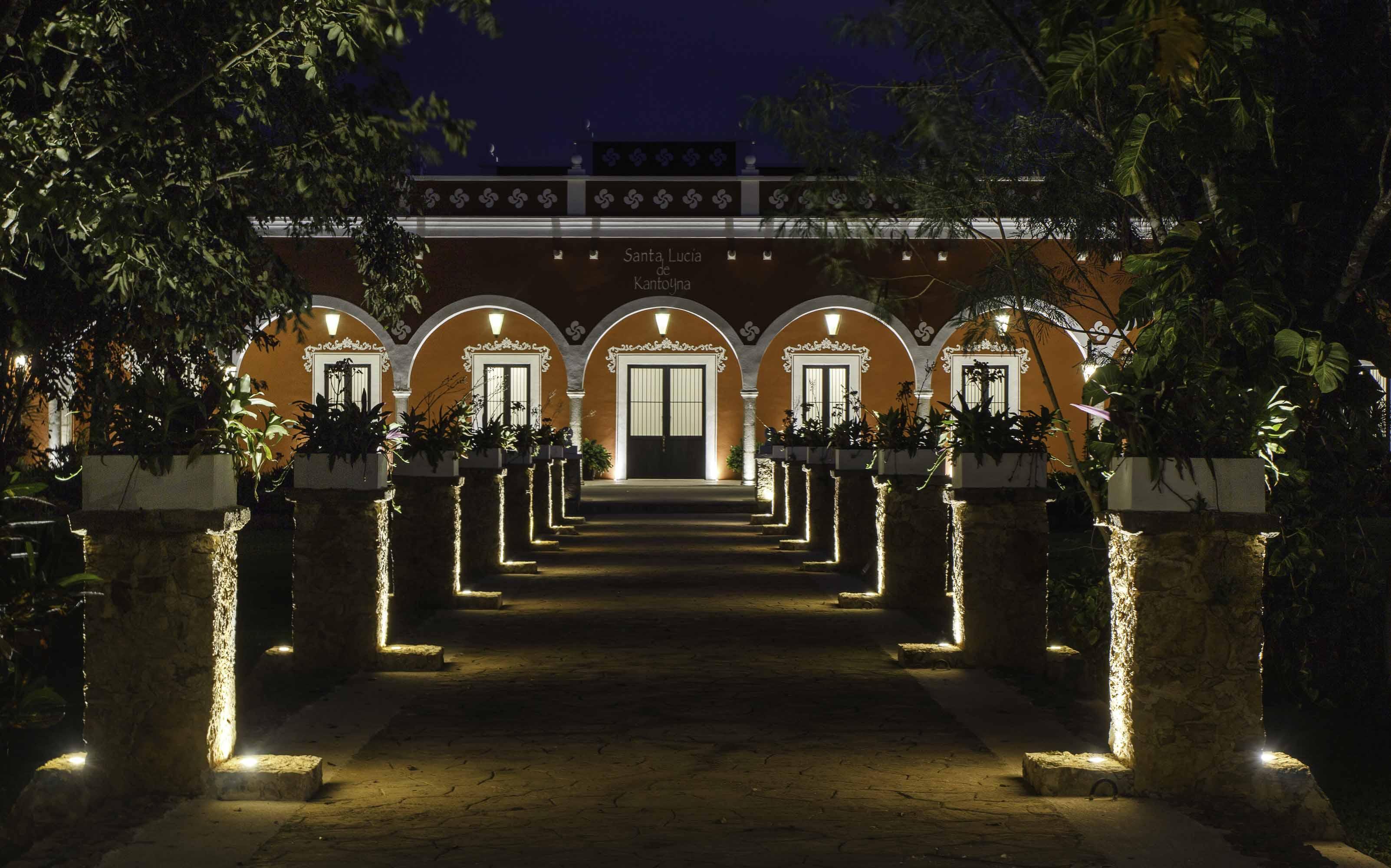 Hacienda en Yucatán de noche