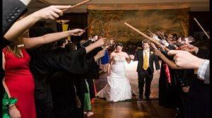 boda con tematica de harry potter